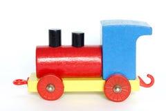 Train en bois de jouet Images stock