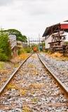 Train en métal Image stock