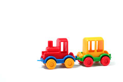 Train en plastique Images stock