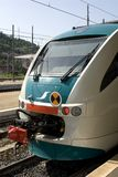 Train Engine. The front or back of a European train in Italy royalty free stock photo