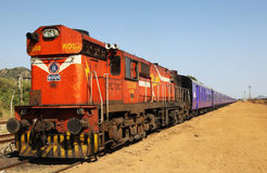 Train Engine. A powerful Train engine of the Indian Railways Royalty Free Stock Photography