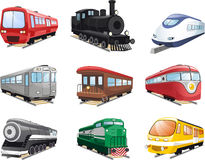 Train engine cartoon illustrations Stock Images