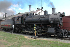 Train (engine #475) at Historical Strasburg Railroad Royalty Free Stock Photos