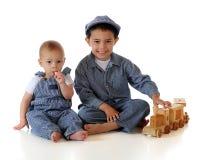 Train Engineer Brothers Stock Photos