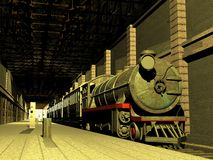 Train et chariots Image stock