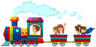 Train et enfants Photos libres de droits