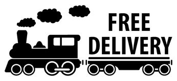 Train et plate-forme pour la cargaison Photographie stock libre de droits