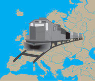 Train in Europe Royalty Free Stock Photo