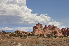 Train into everything or nothing at Arches, UT Royalty Free Stock Photo