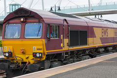 Train EWS. Th photo show the train EWS in Scotland Royalty Free Stock Image