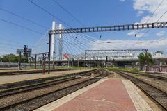 Train exhibition at Gara de Nord Stock Images