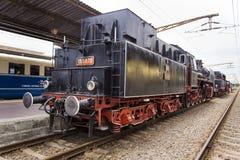 Train exhibition at Gara de Nord Royalty Free Stock Photo