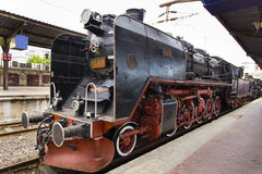Train exhibition at Gara de Nord Stock Photography