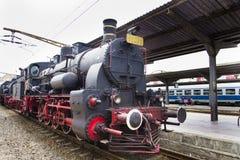 Train exhibition at Gara de Nord Stock Photos