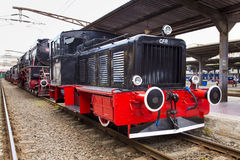 Train exhibition at Gara de Nord Royalty Free Stock Photography