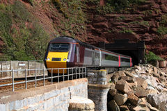 Train Exiting Tunnel Stock Images