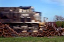 Train expédiant Photo libre de droits