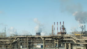 Train. Factories and ecology. Air pollution stock footage