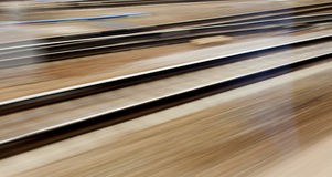 Train fast run on railway track Royalty Free Stock Photography
