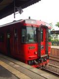 Train ferroviaire électrique de Kumamoto Photo libre de droits