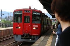 Train ferroviaire électrique de Kumamoto images stock