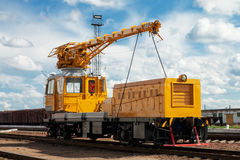 Train ferroviaire de maintenance Photo stock