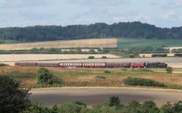 Train ferroviaire de vapeur photo libre de droits