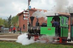Train ferroviaire de vapeur de mesure étroite Photographie stock libre de droits