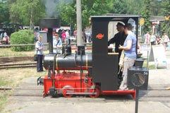 Train ferroviaire de vapeur de mesure étroite Photographie stock