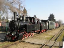 Train ferroviaire de vapeur de mesure étroite photos libres de droits