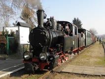 Train ferroviaire de vapeur de mesure étroite image libre de droits