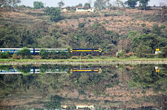 Train ferroviaire indien Images stock