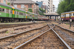 Train ferroviaire thaïlandais Image libre de droits
