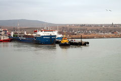 Train ferry in the port of Crimea Stock Photography