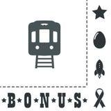 Train flat icon Stock Image