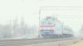 Train in foggy Stock Images