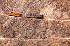 Train Follows His Zig Zag Journey Stock Photography