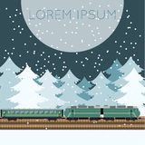 Train in the forest banner Royalty Free Stock Photography