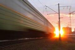 train fou Image libre de droits