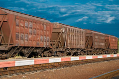 Train with freight cars Stock Photos