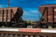 Train with freight cars Royalty Free Stock Images