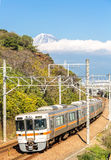 Train with Fuji Mountain Royalty Free Stock Image