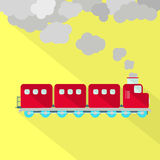 Train fuming vector illustration