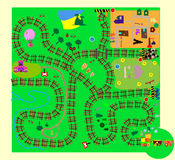 Train. fun children's maze of vector Stock Images