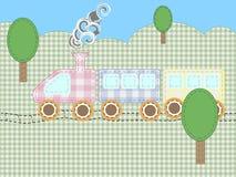 Train. Fun kiddie train in application of fabric Stock Image