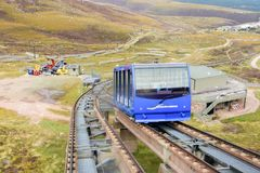 Train funiculaire en parc national de Cairngorm photo stock