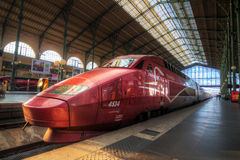 Train at Gare du Nord Stock Photo