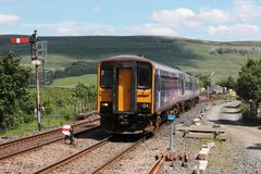 Train at Garsdale on Settle to Carlisle line. Stock Images