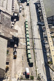 Train with gas and fuel tanks, Barcelona Stock Photos