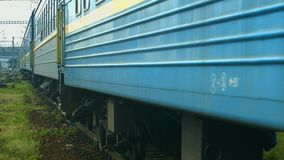 Train goes to the voyage. stock footage